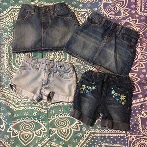Lot of denim skirts/shorts